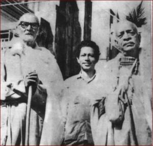 <h3> Srila Govinda Maharaja, Srila Prabhupada and Srila Sridhar Maharaja</h3>