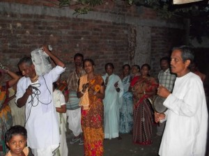 <h3> Locals participating in Nagar Sankirtan</h3>