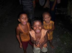 <h3> Local children are very happy with the Sankirtan</h3>