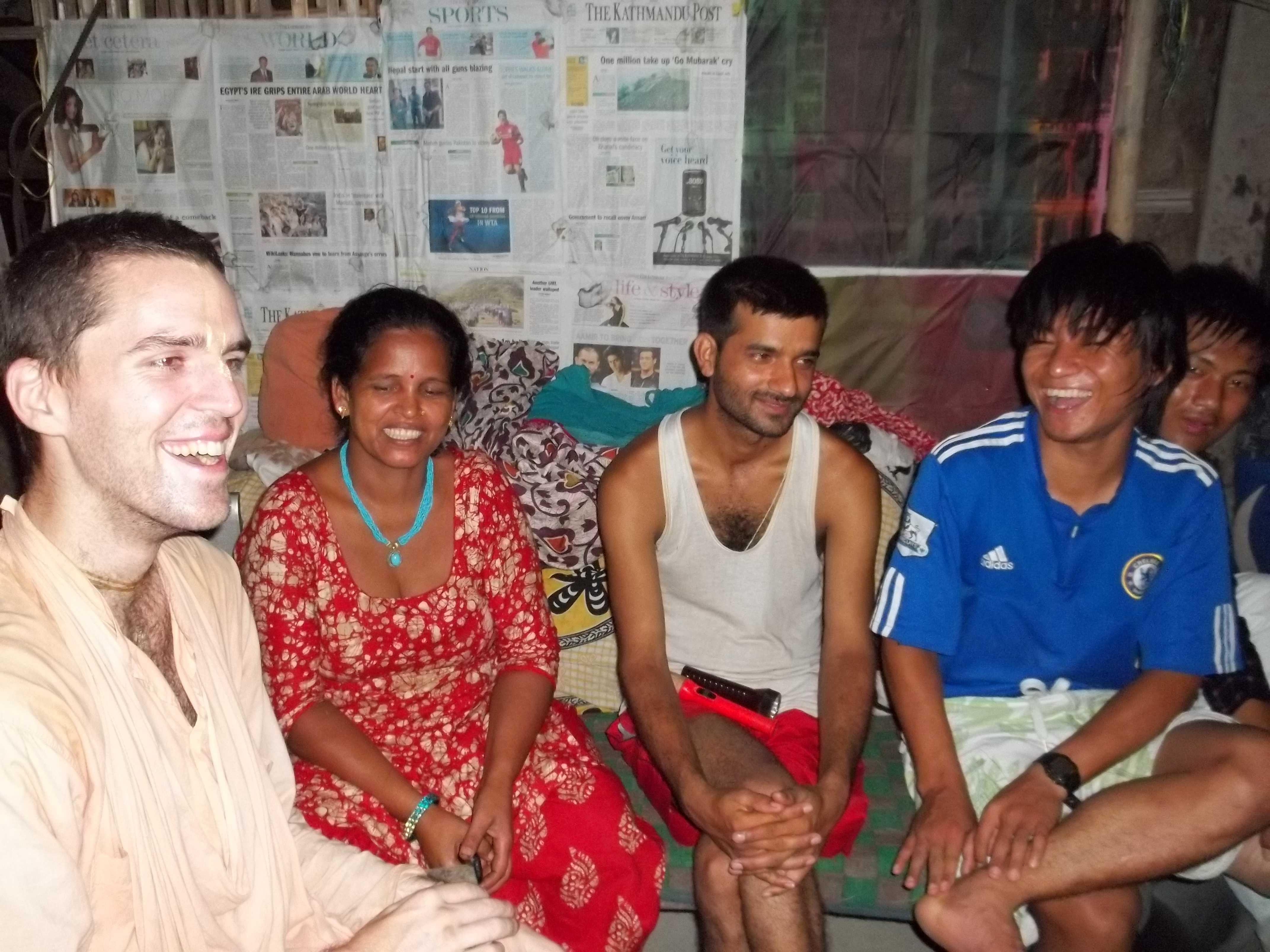 <h3> Preaching program at Laxmi Marga in Nepal</h3>