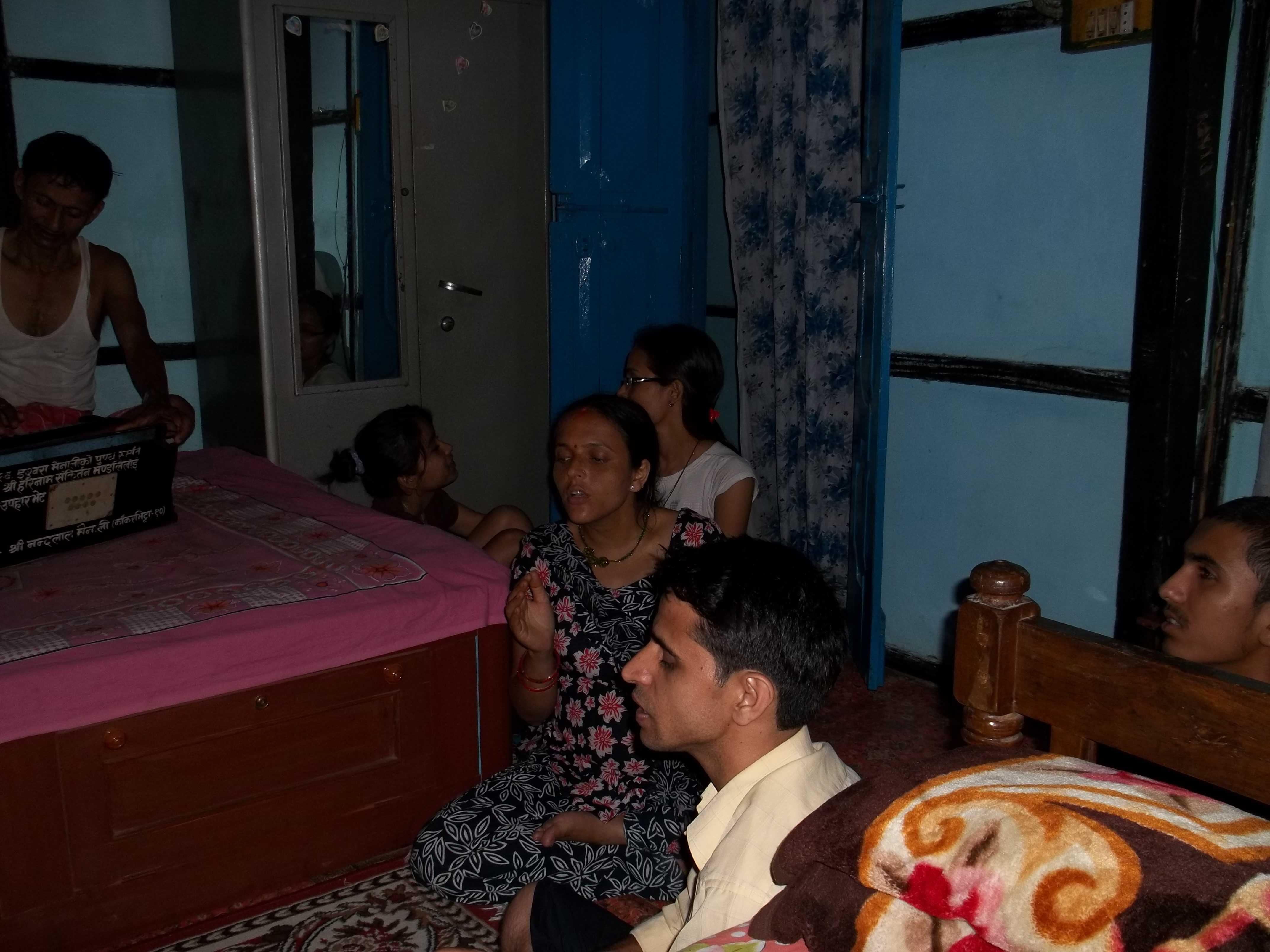<h3> Kiatan in the hose of Nibraka Sampradaya Vaisnavas at Kakarbhitta, Nepal</h3>