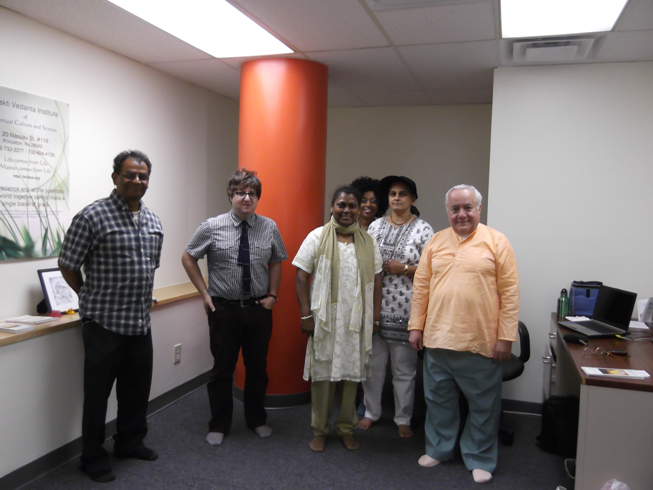 Guests at Bhakti Vedanta Institute, Princeton, NJ, USA