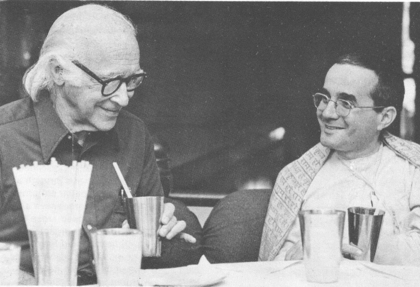 Sripad Bhakti Madhava Puri Maharaja, Ph.D. with Nobel Laureate, George Wald at Bhaktivedanta Institute in 1981